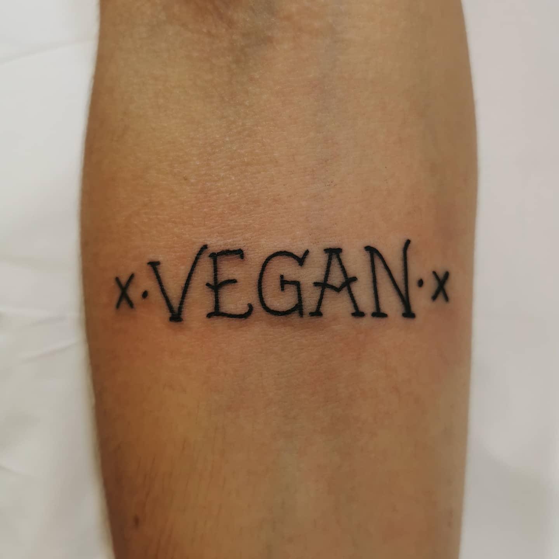 Wort Vegan Tattoo -xtetex