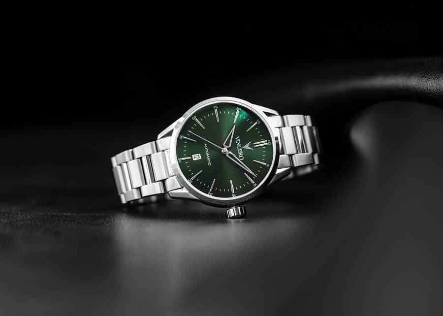 Vincero Icon Automatic Dark Olive Silver Watch 2