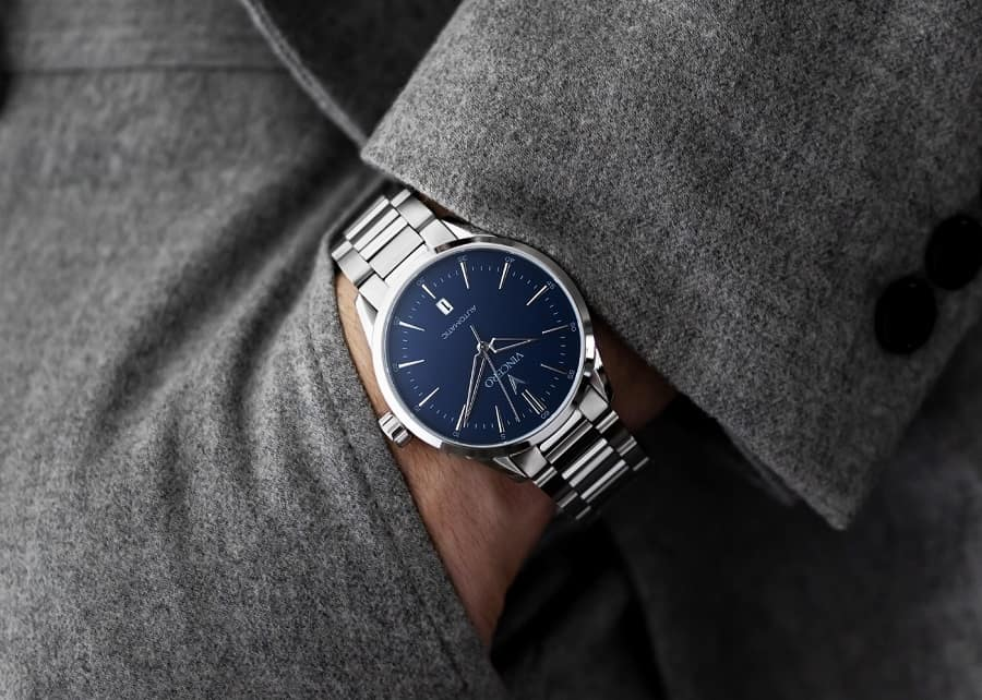 Vincero Icon Automatic Silver Blue Watch