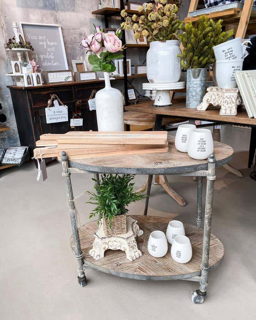 Vintage Bar Cart Ideas -urbanfarmhousebellmore