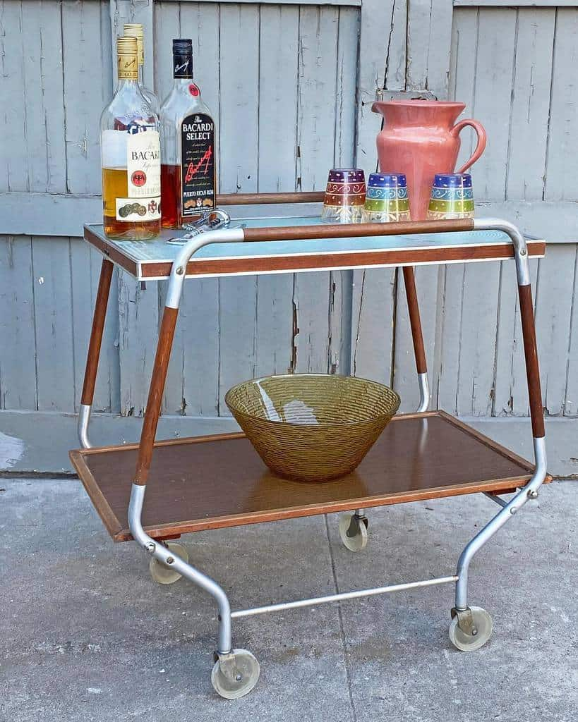 Vintage Bar Cart Ideas -vintagevisions_la