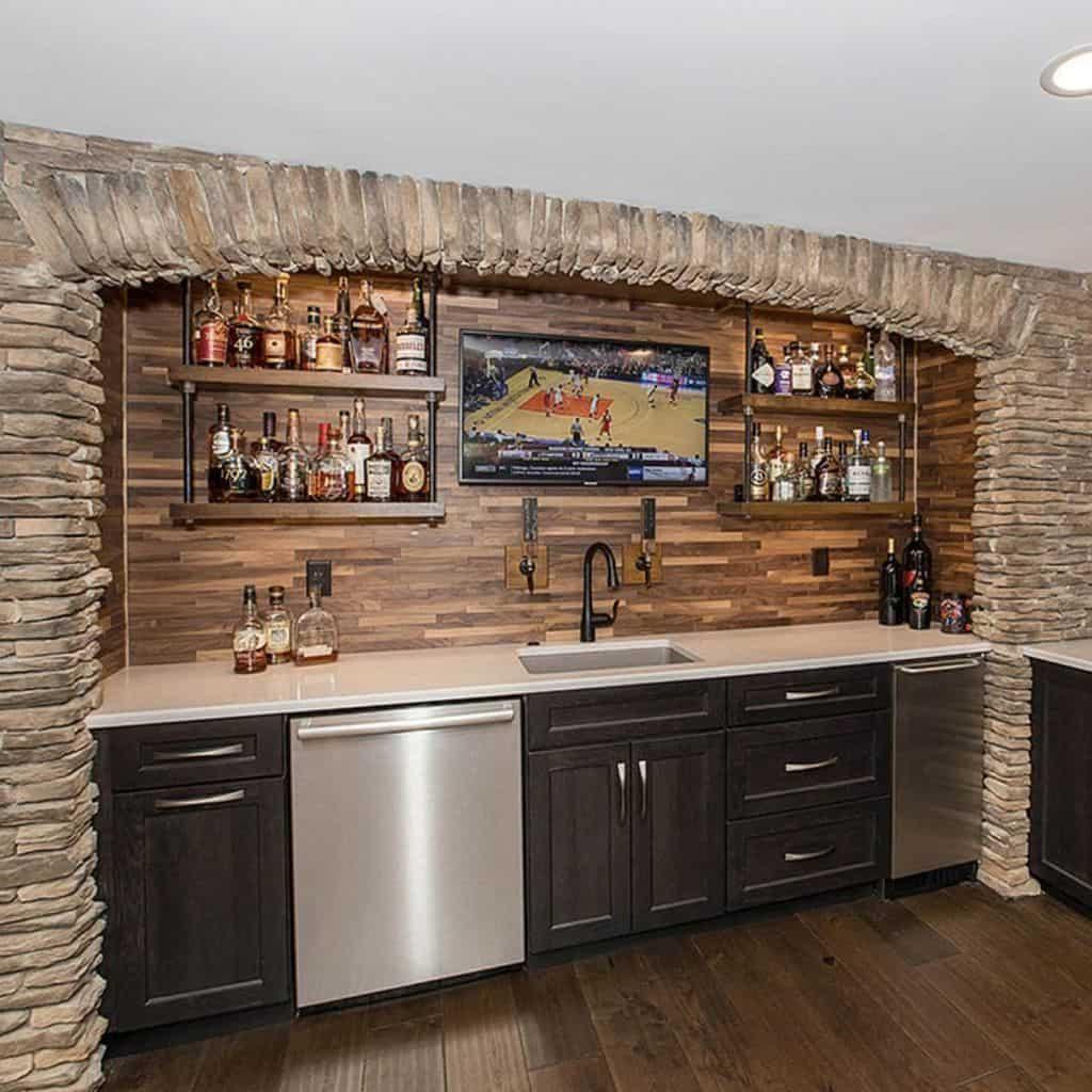 Wall Basement Bar Ideas nealsdesignremodel