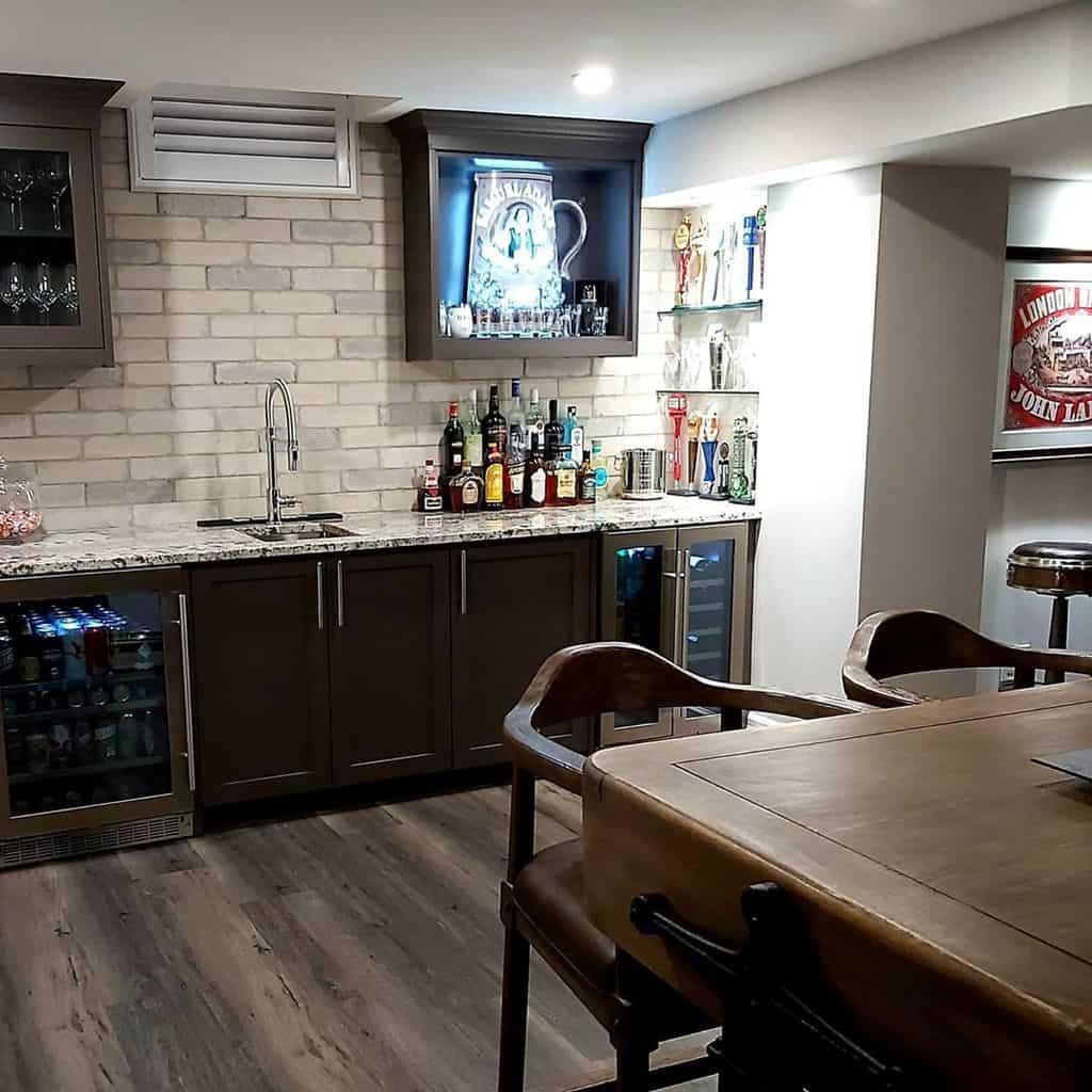 Wall Basement Bar Ideas stoneconstructioninc