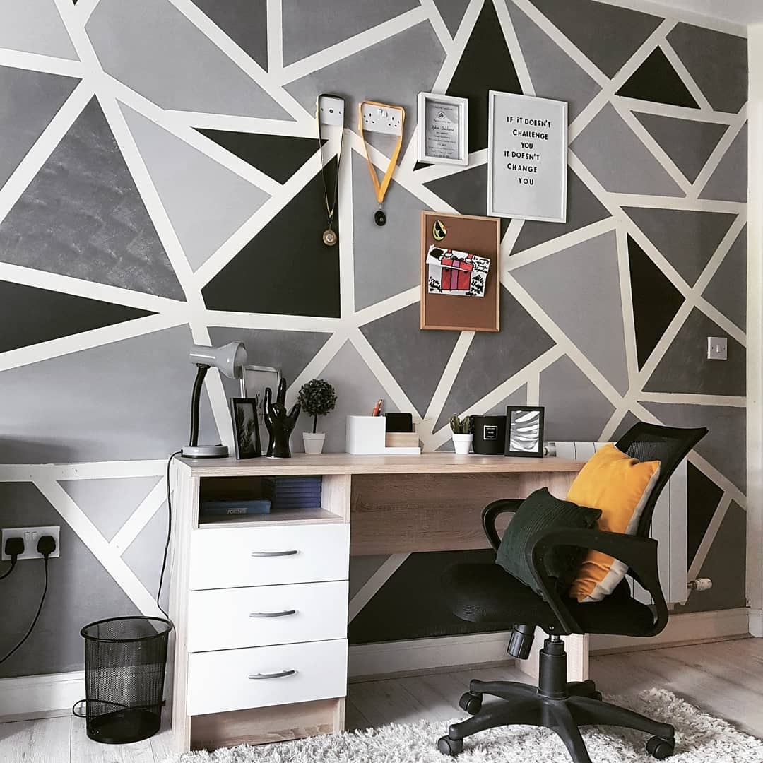 Geometric Wall Painting Ideas -_inside_number_21_