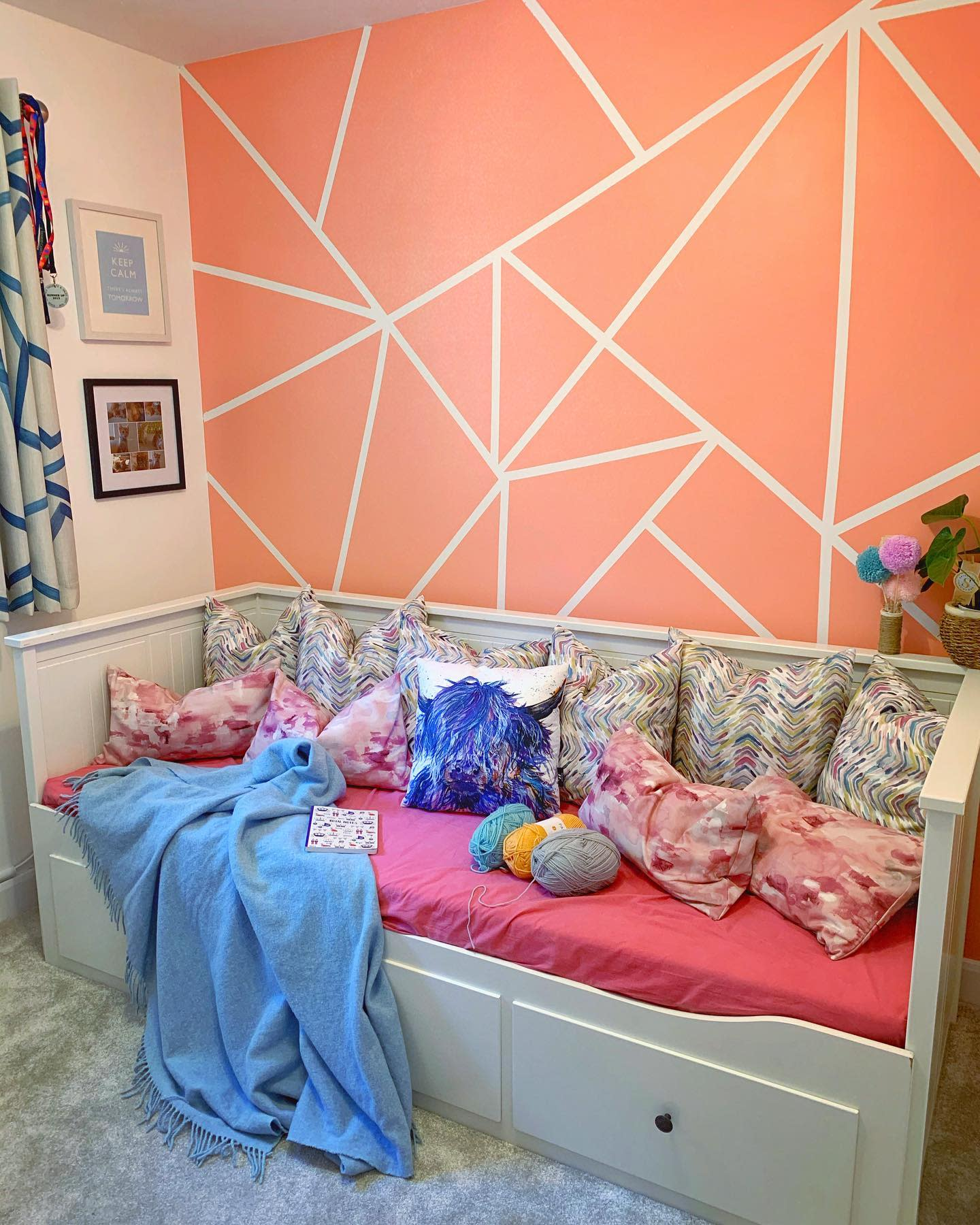 Geometric Wall Painting Ideas -a_new_mamma_in_town