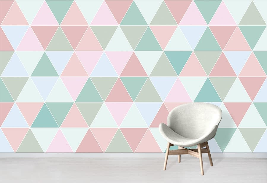 Geometric Wall Painting Ideas -wallpapered