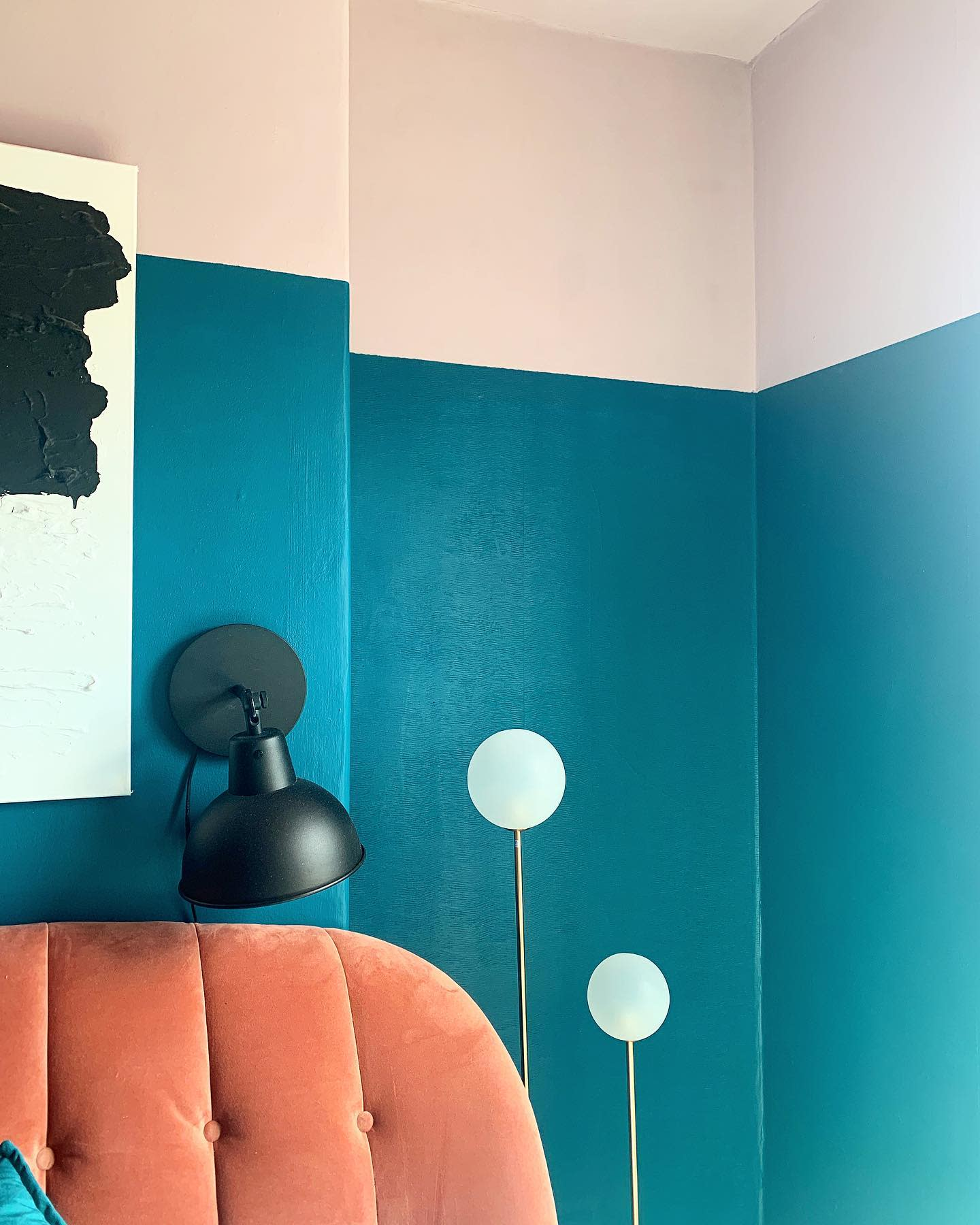 Two toned Wall Painting Ideas -intothewoodscw