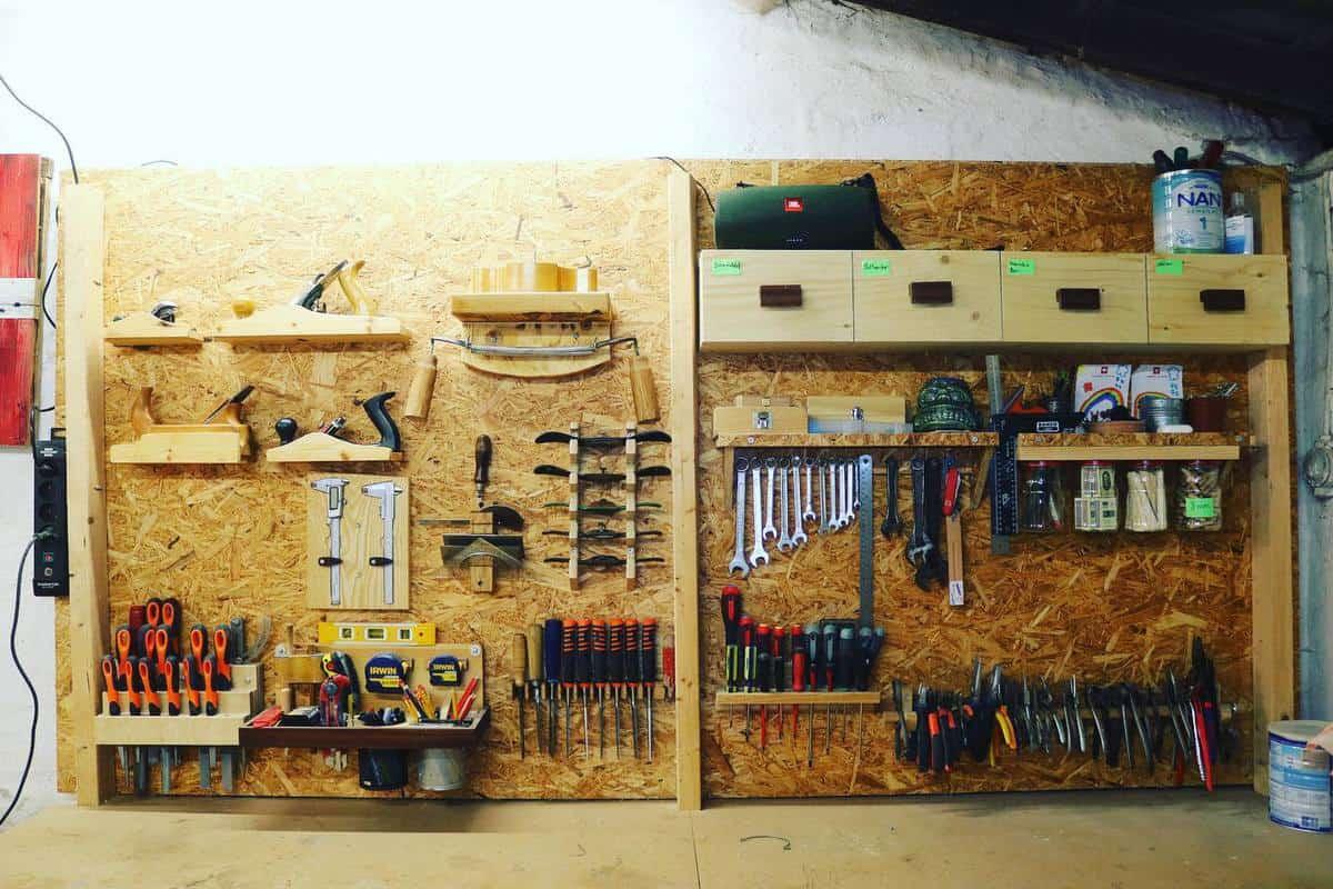 Wall Tool Storage Ideas -hobbysnedkeren