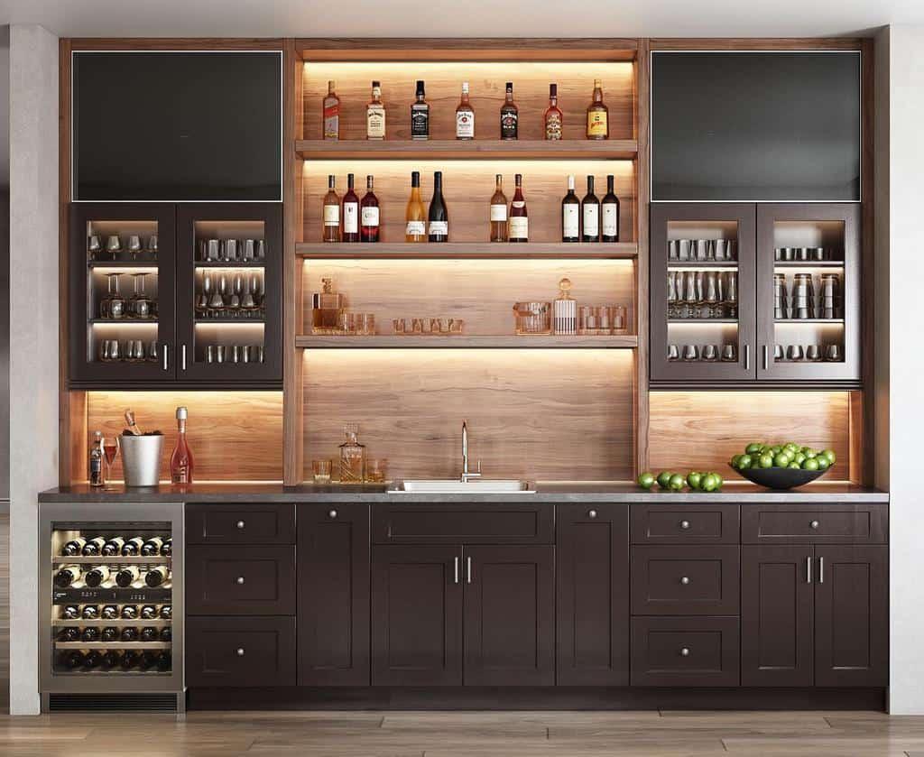 Wall Wet Bar Ideas kitchensbythecreek
