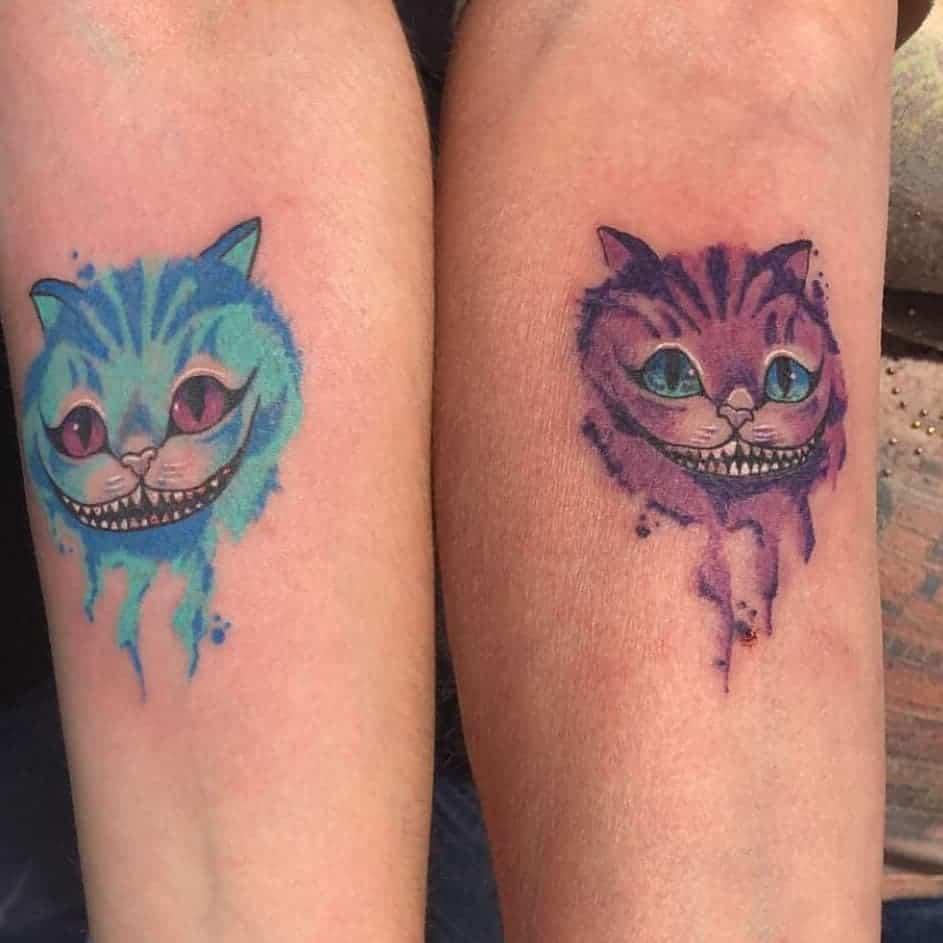 Watercolor Cheshire Cat Tattoo pocketpanda92689