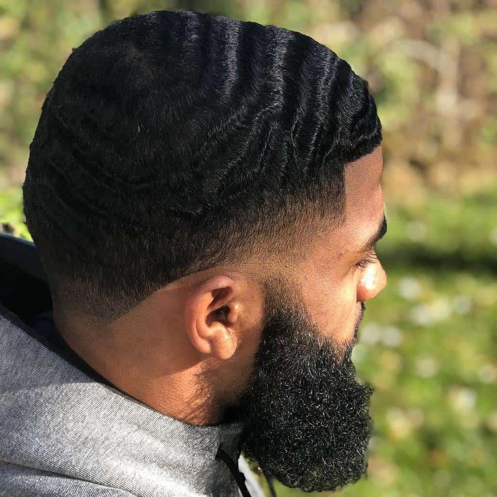 Wave With Medium Fade Haircut