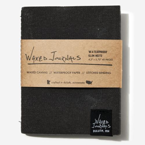Waxed Journals Waterproof Slim Notebook
