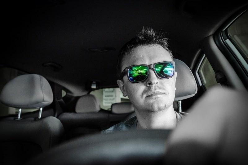 Man,Driving,A,Car