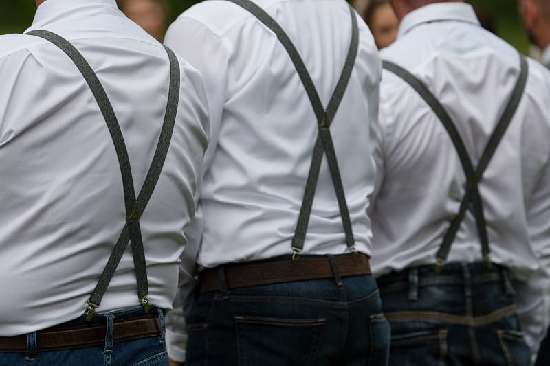 Dark brown shiny spandex pull on suspender belt