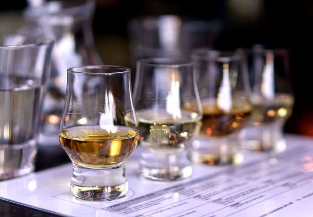 Whiskey Samples with tasting notes