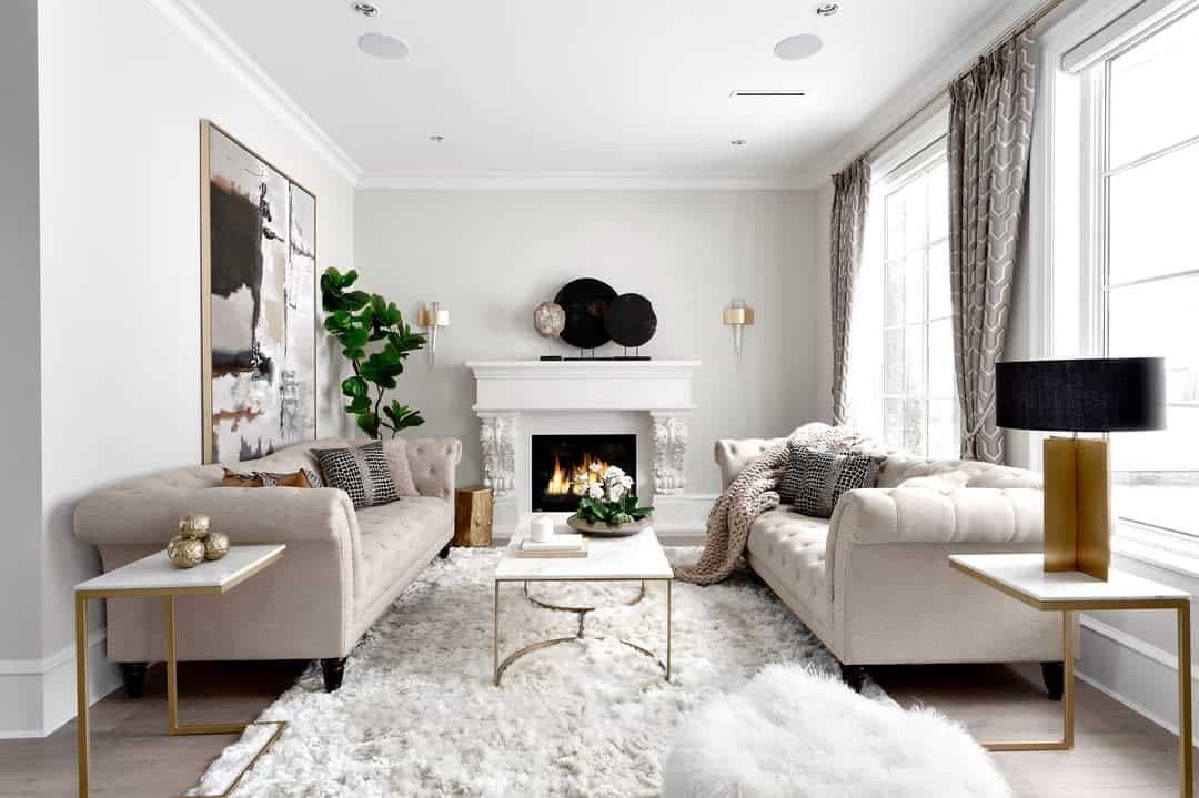 White Living Room Carpet ideas -kaluinteriors