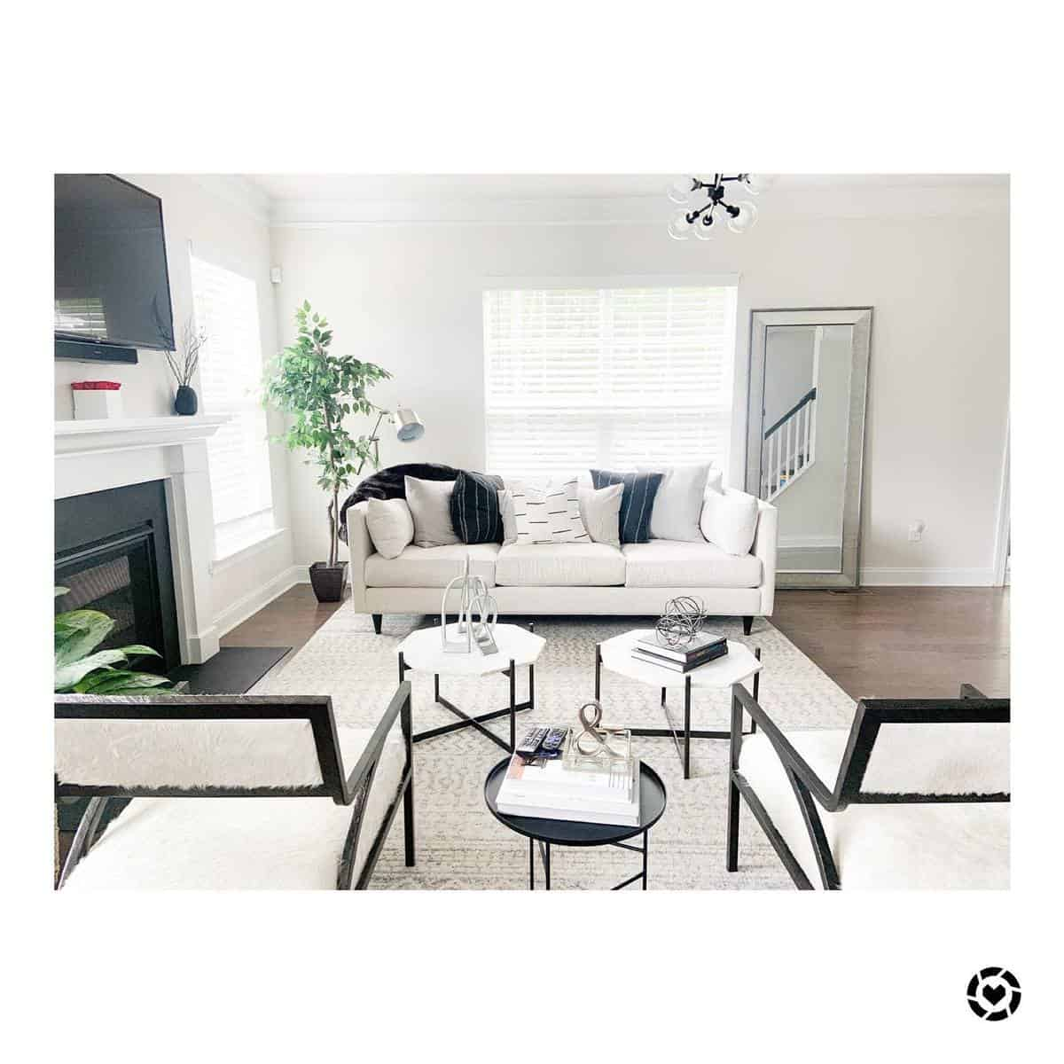 White Living Room Carpet ideas -lifewithlnicole