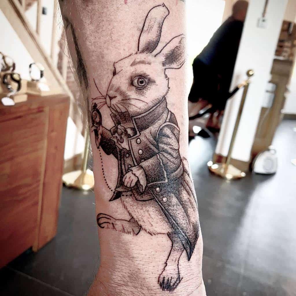 White Rabbit Alice In Wonderland Gossie.tattoo