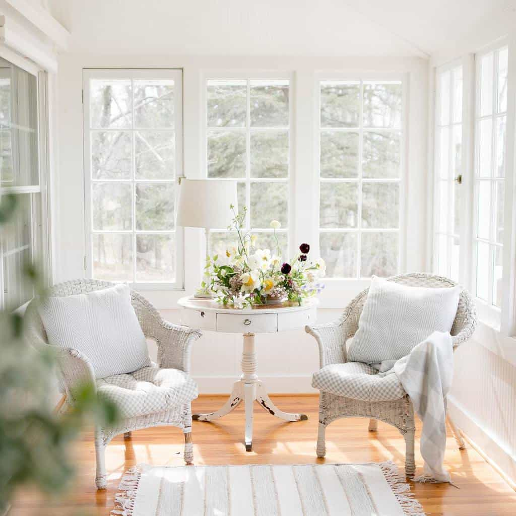 White Sunroom Furniture Ideas thedaysjournal