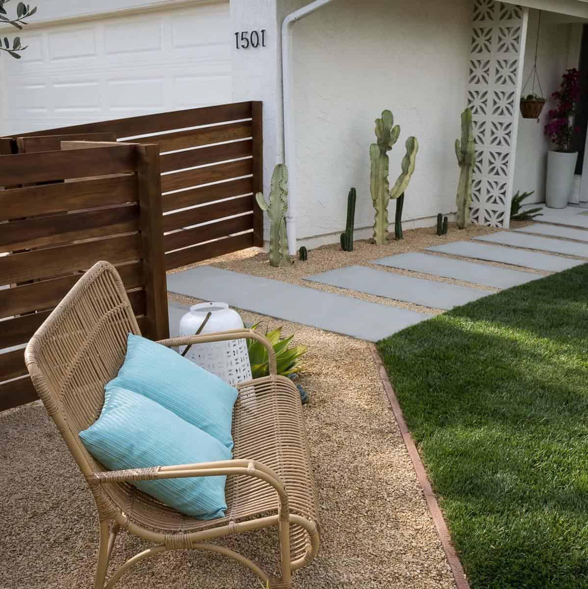 Wicker Rattan Bamboo Garden Bench Ideas -designbybrookside