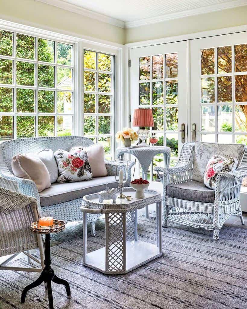 Wicker Sunroom Furniture Ideas paulcorrieinteriors