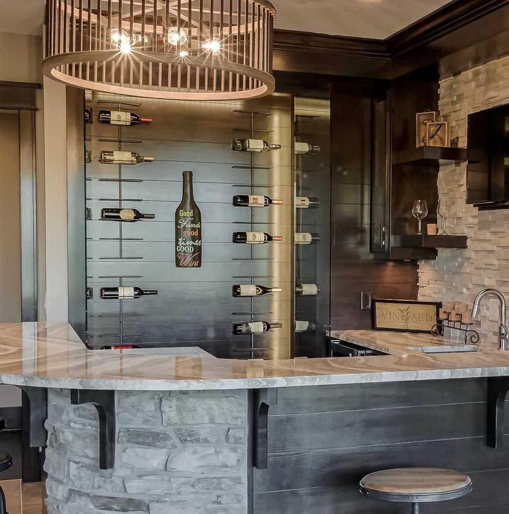 Wine Wet Bar Ideas michaelpauldesignbuild