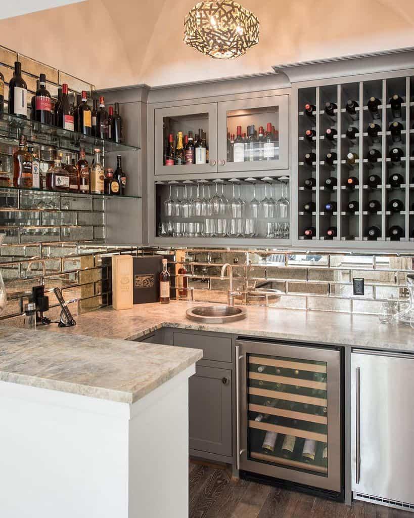 Wine Wet Bar Ideas wyrickdesign