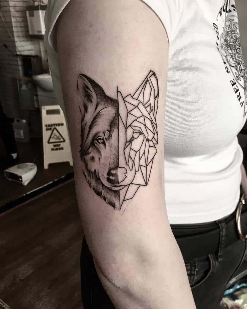 Wolf Arm Tattoos for Women aaronscott.tattoo