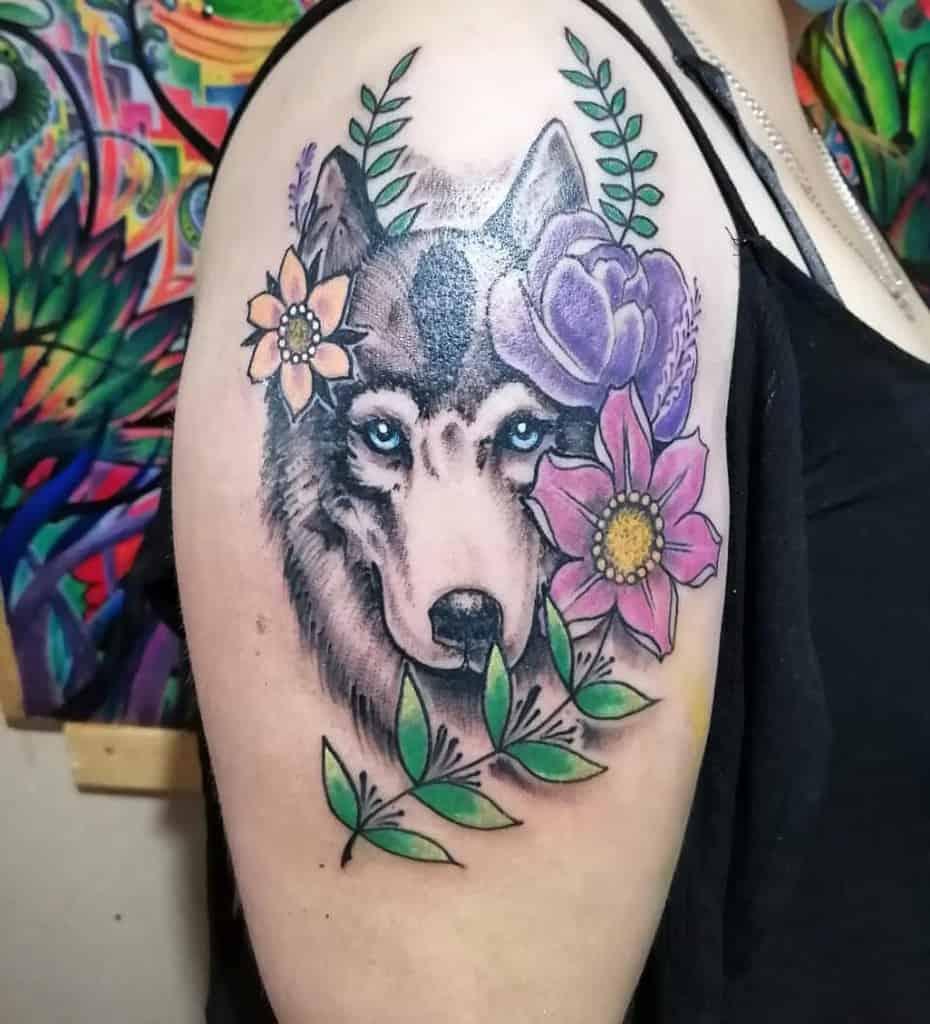 Wolf Arm Tattoos for Women diegofunnes
