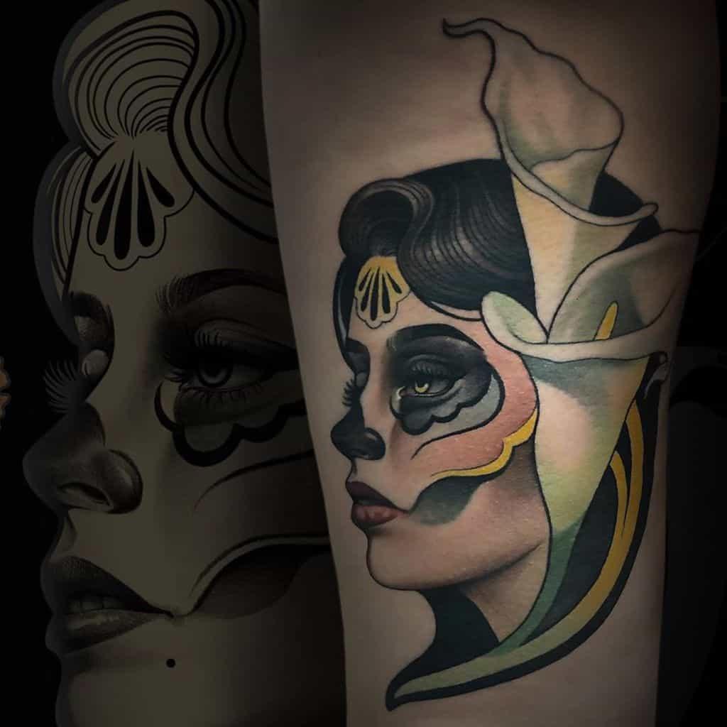 Woman Art Nouveau Tattoo Woman Art Nouveau Tattoo marialucero.ink