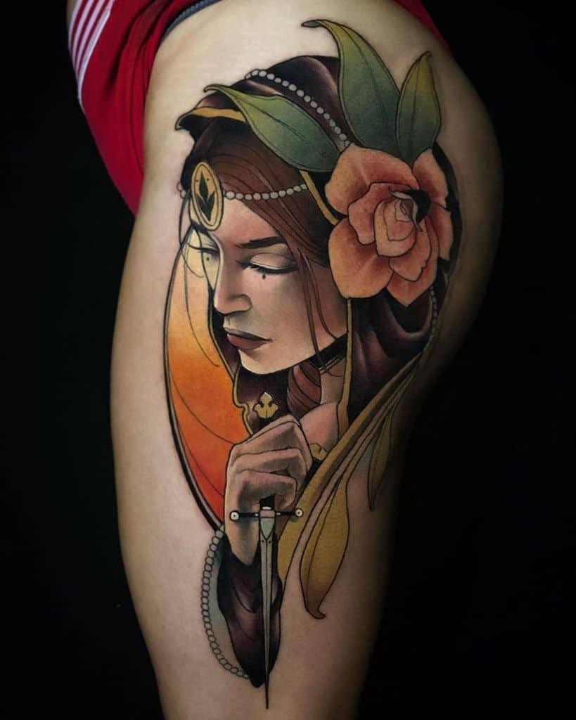 Woman Art Nouveau Tattoo rodrigo.leseduarte