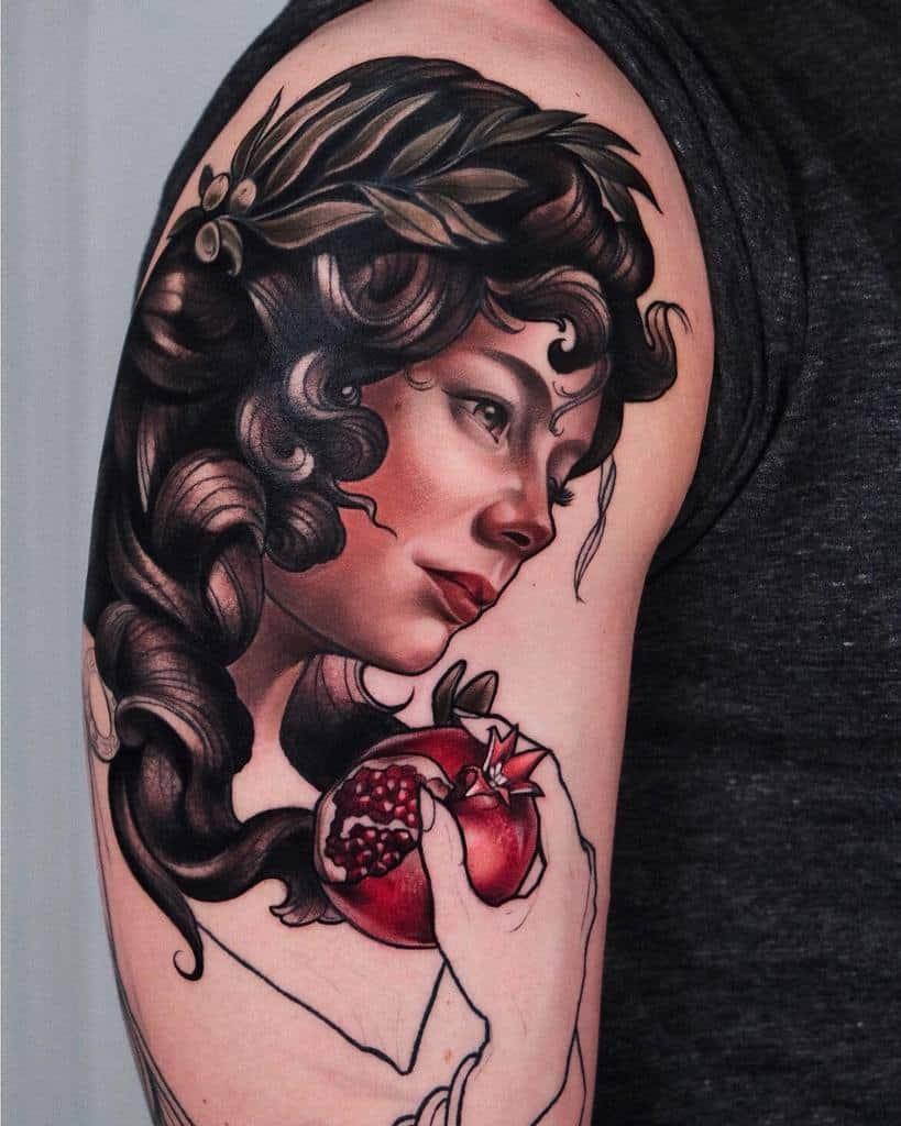 Woman Art Nouveau Tattoo Tt Ganzvind