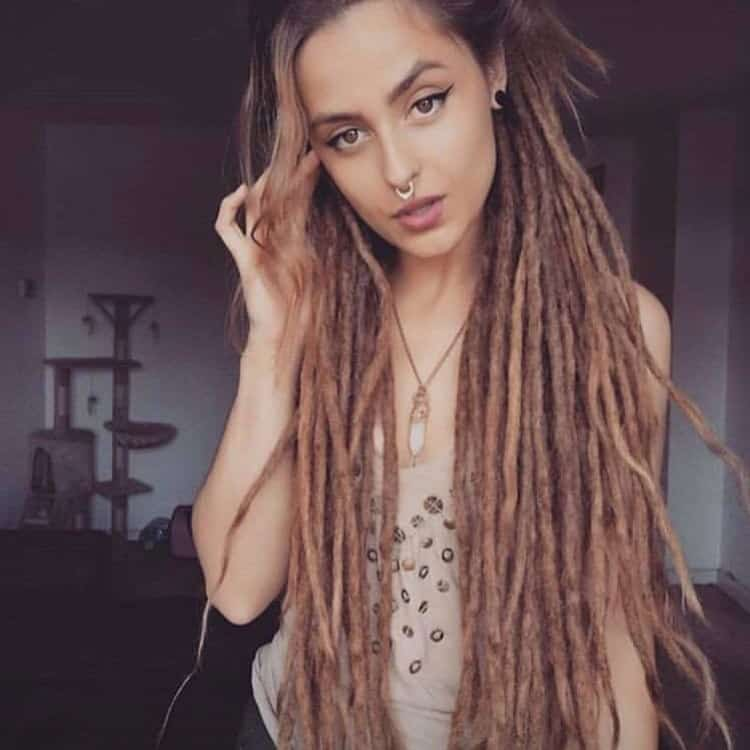 Woman With Extremely Long Dreadlocks