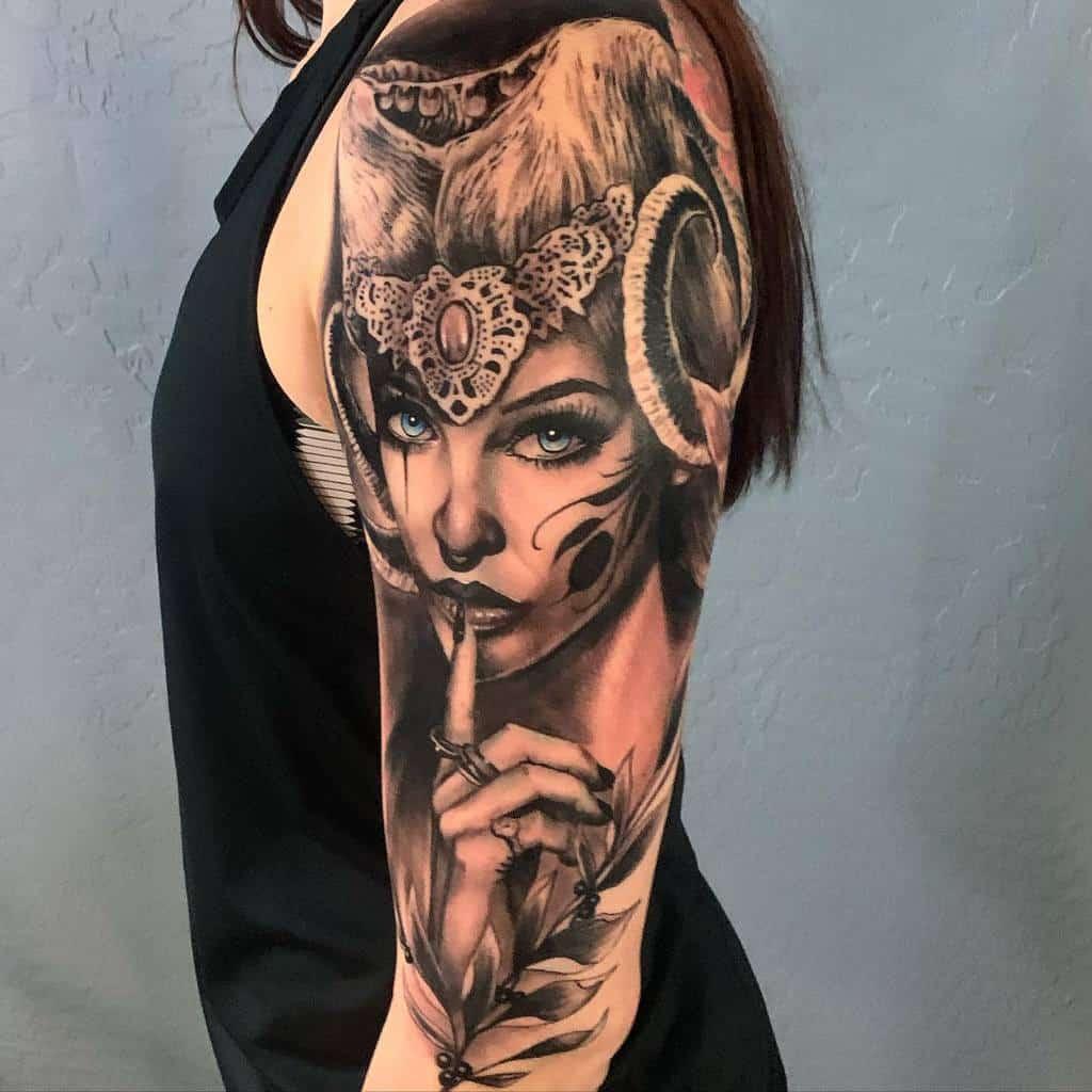 Women 34 sleeve tattoo 2 porkymartinez