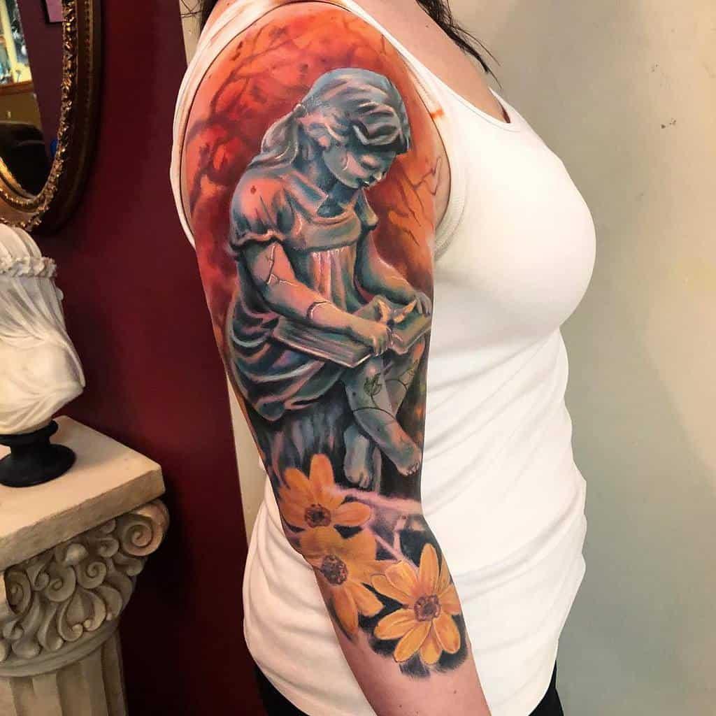 Women 34 sleeve tattoo heffronart