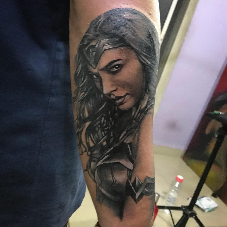 Realistic Wonder Woman Tattoo -saurabhnayak746
