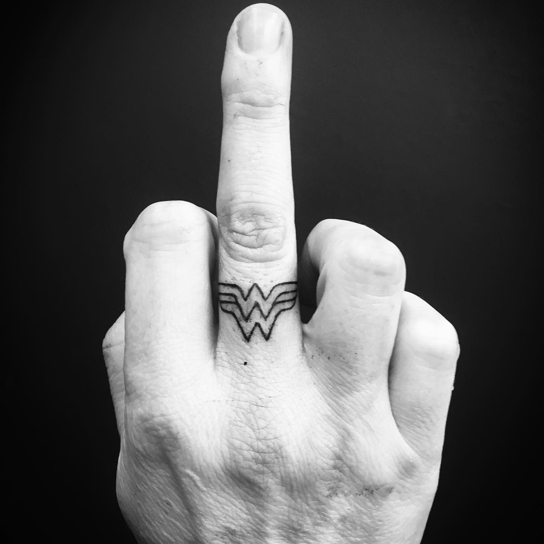 Small Wonder Woman Tattoo -waynewilliams.tattoo