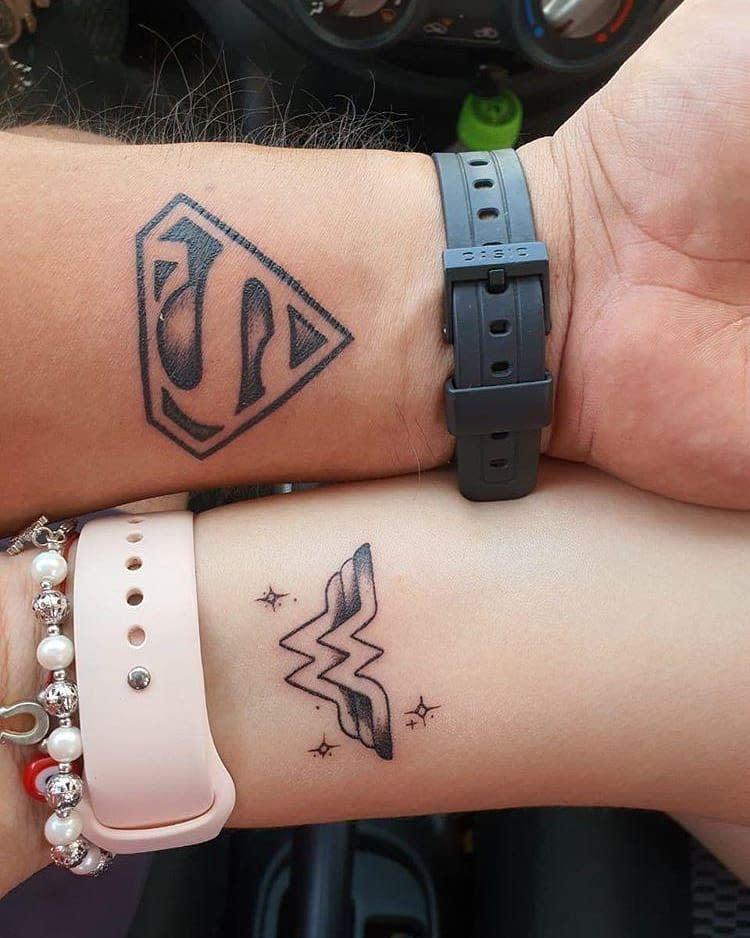 Superman Wonder Woman Tattoo -jonazavalaa