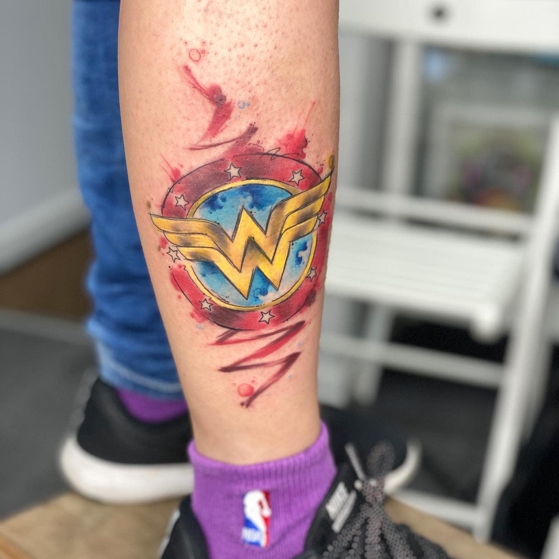 Symbol Wonder Woman Tattoo -customizarte