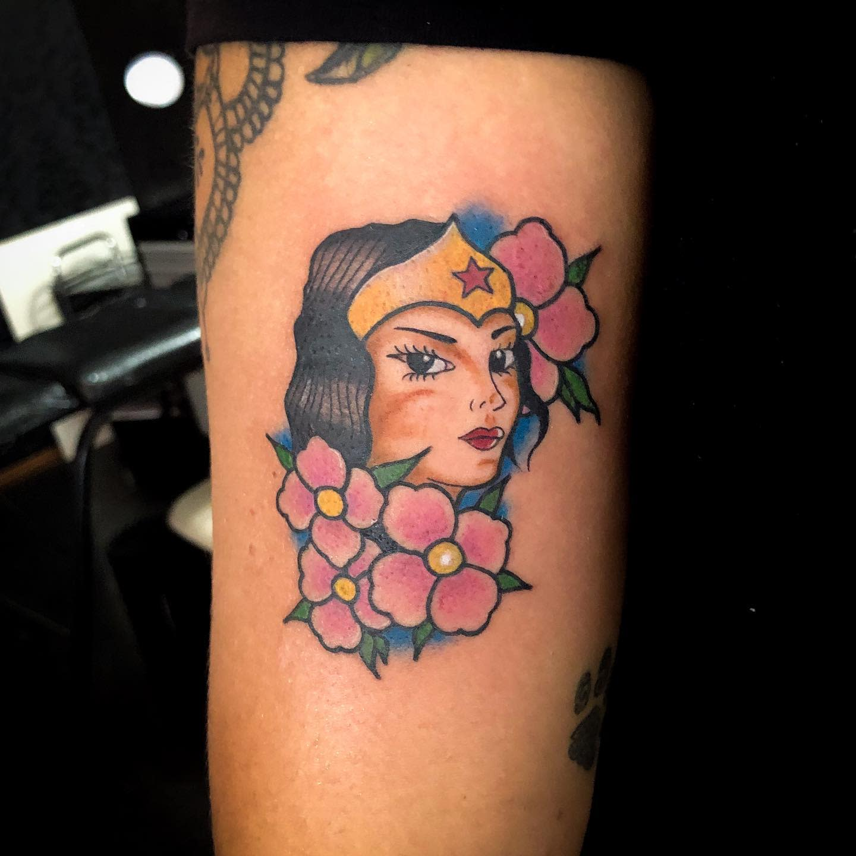 Traditional Wonder Woman Tattoo -cesarchamma