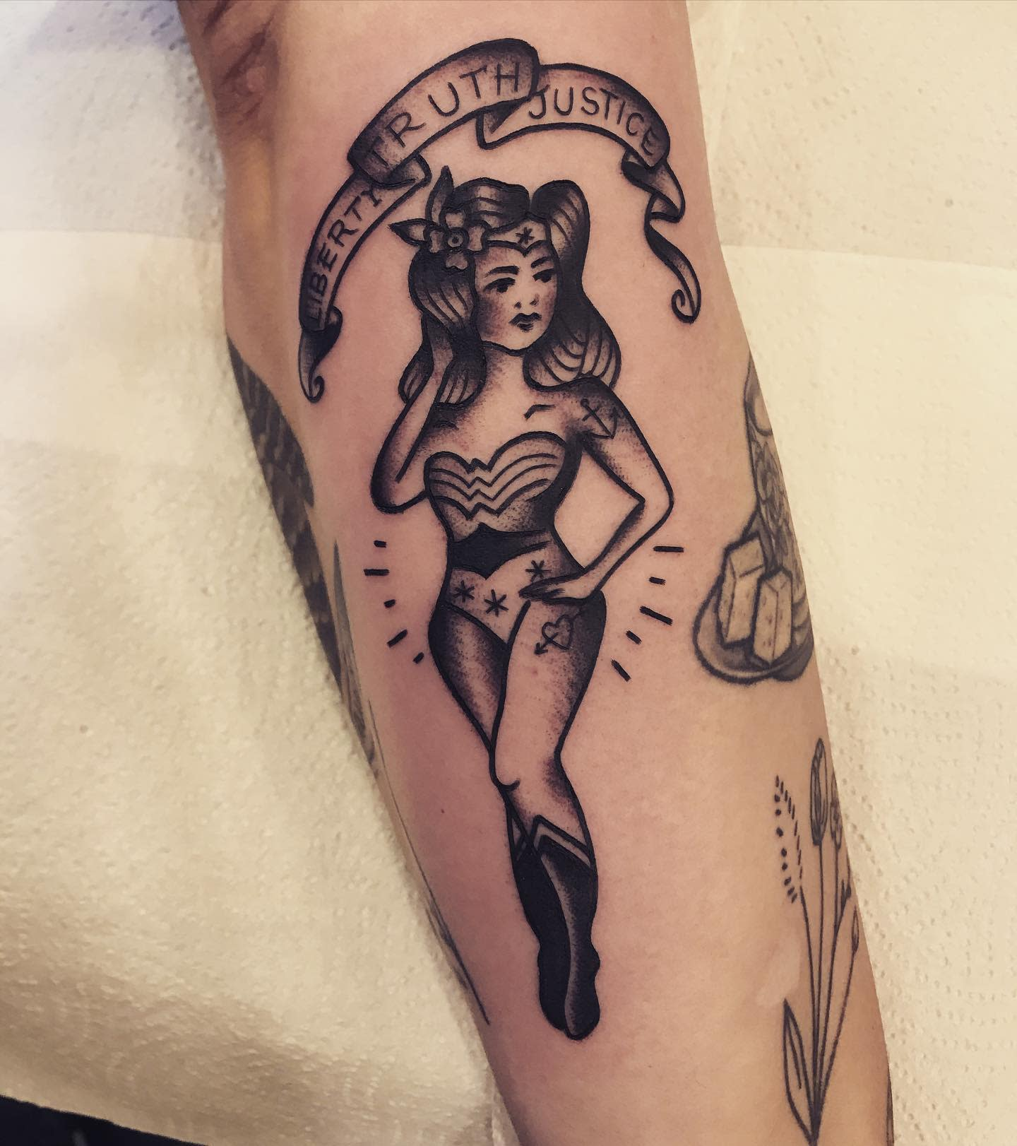 Traditional Wonder Woman Tattoo -thesteviesmith