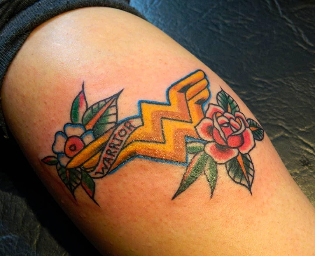 Traditional Wonder Woman Tattoo -yamisalmon