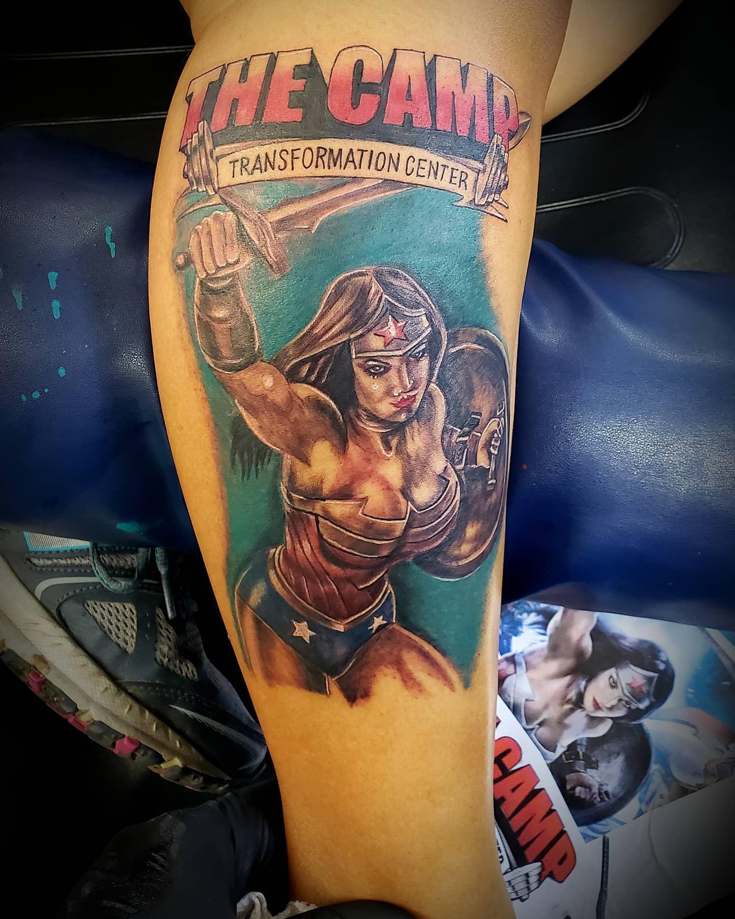 Warrior Wonder Woman Tattoo -camachostattooparlor
