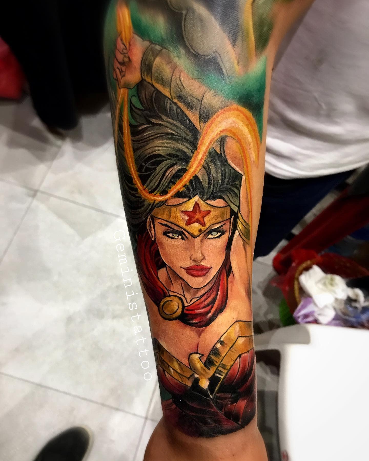 Warrior Wonder Woman Tattoo -luis_geministattoo