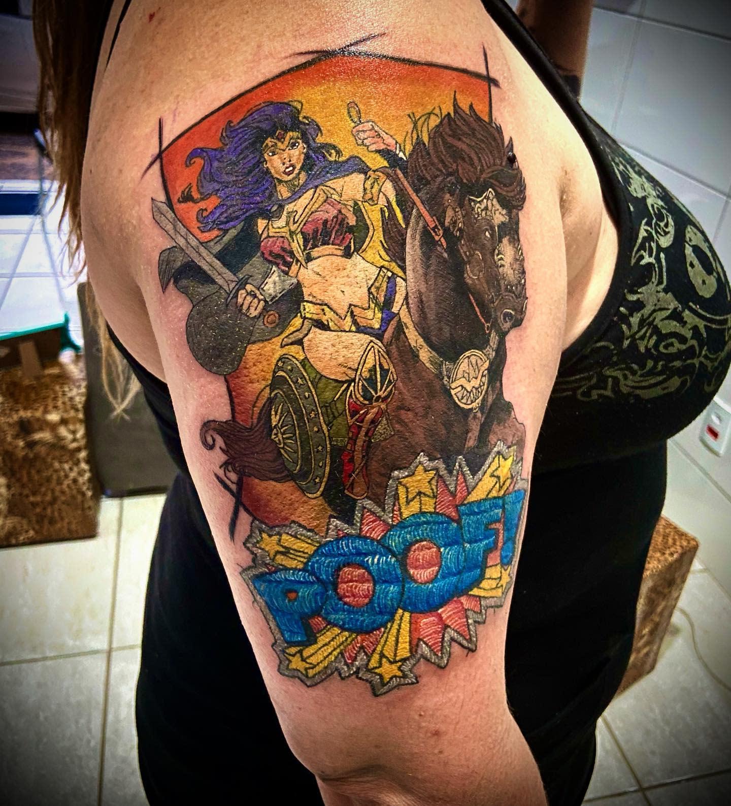 Warrior Wonder Woman Tattoo -rickceregatte