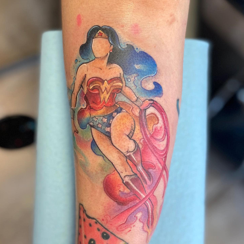Watercolor Wonder Woman Tattoo -dackattack