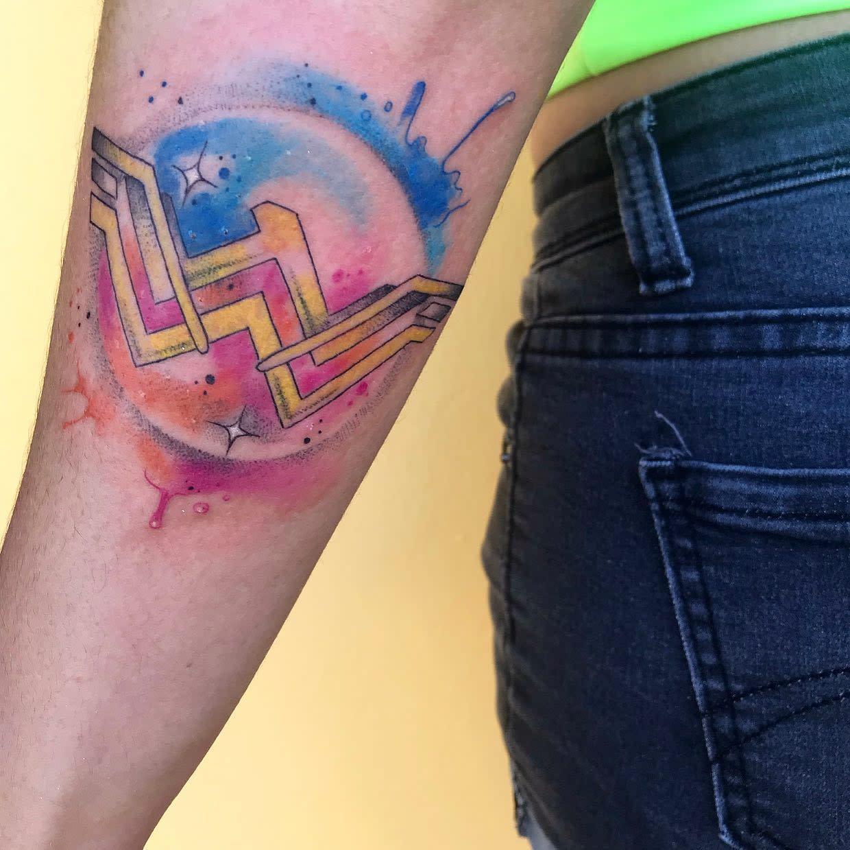 Watercolor Wonder Woman Tattoo -nelsonh86