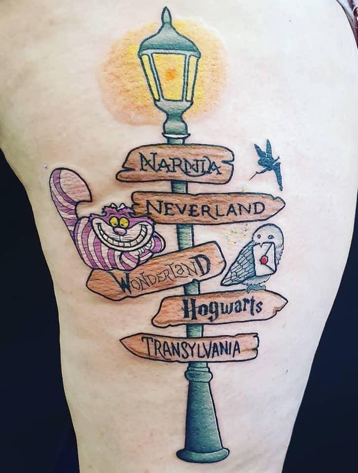 Wonderland Inspired Alice In Wonderland Gunandpedaltattoostudio
