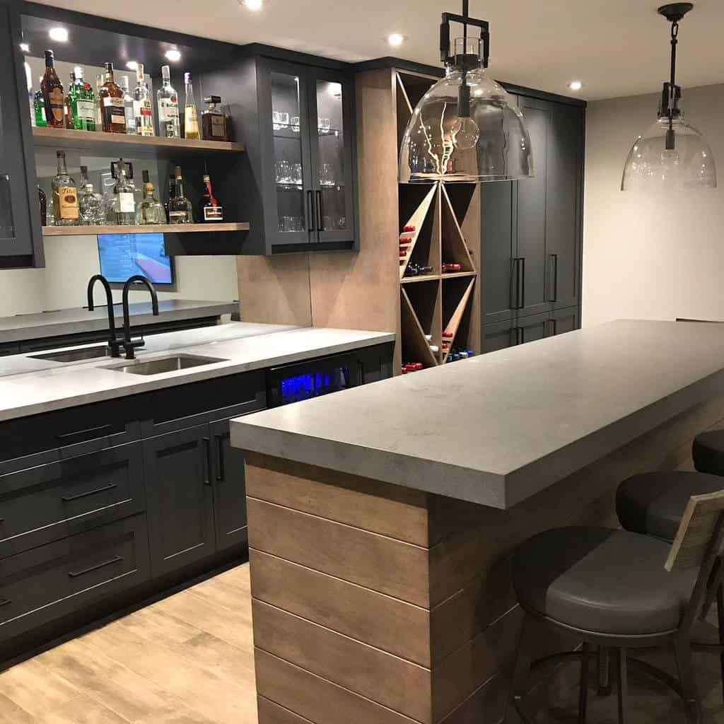 Wood Basement Bar Ideas brittanyleighdesigns