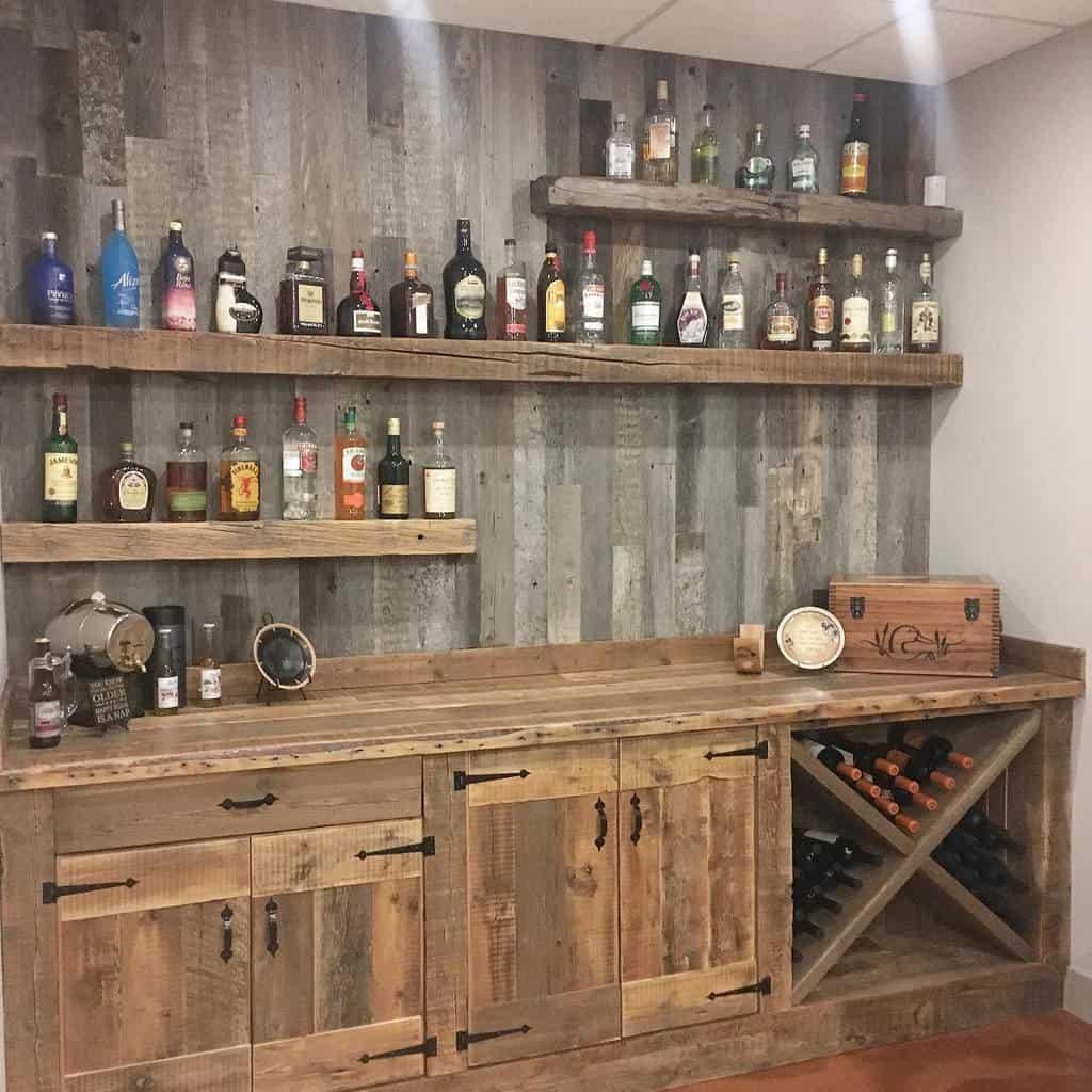 Wood Basement Bar Ideas dustylumberco